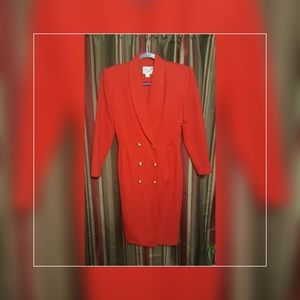 Vintage Midi  Dress Soulder Pad